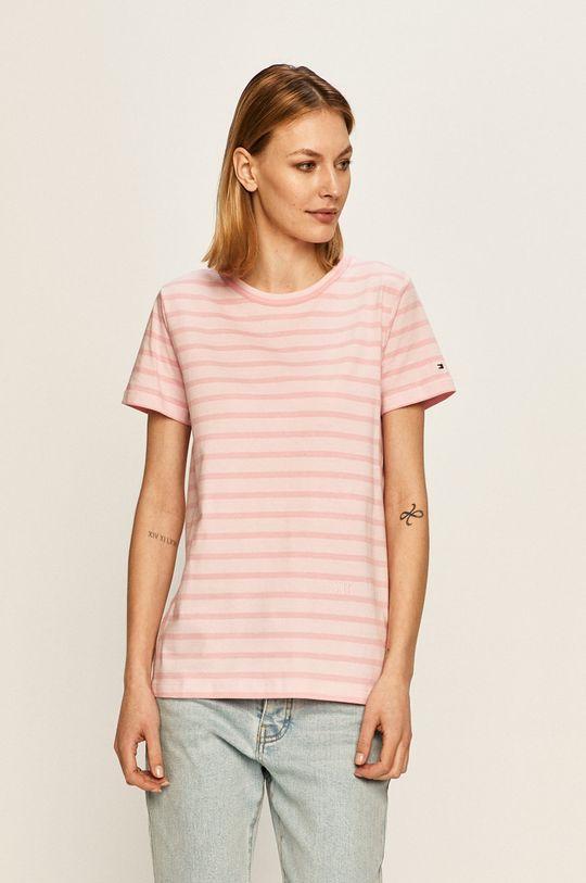 różowy Tommy Hilfiger - T-shirt Damski