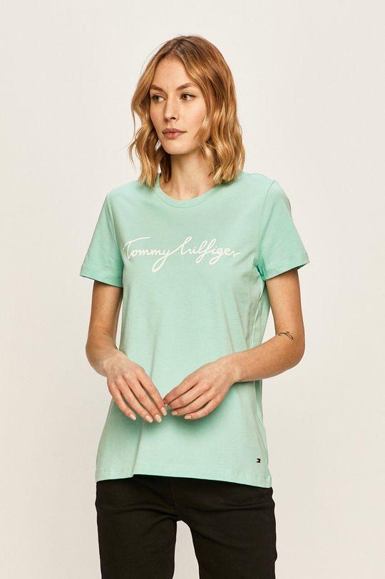 jasny turkusowy Tommy Hilfiger - T-shirt Damski