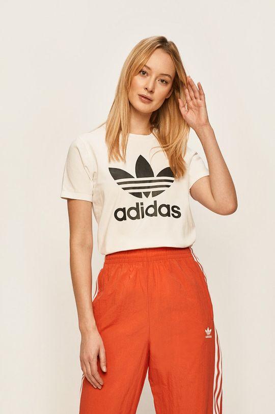 alb adidas Originals - Tricou De femei