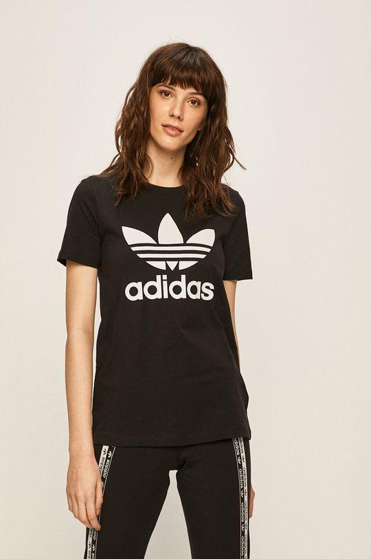 czarny adidas Originals - T-shirt Damski