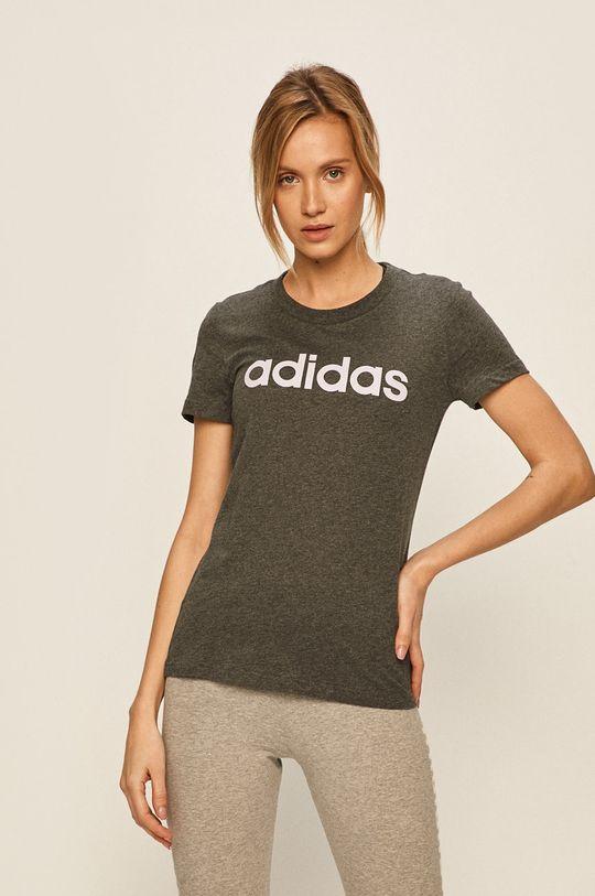 šedá adidas - Tričko Dámský