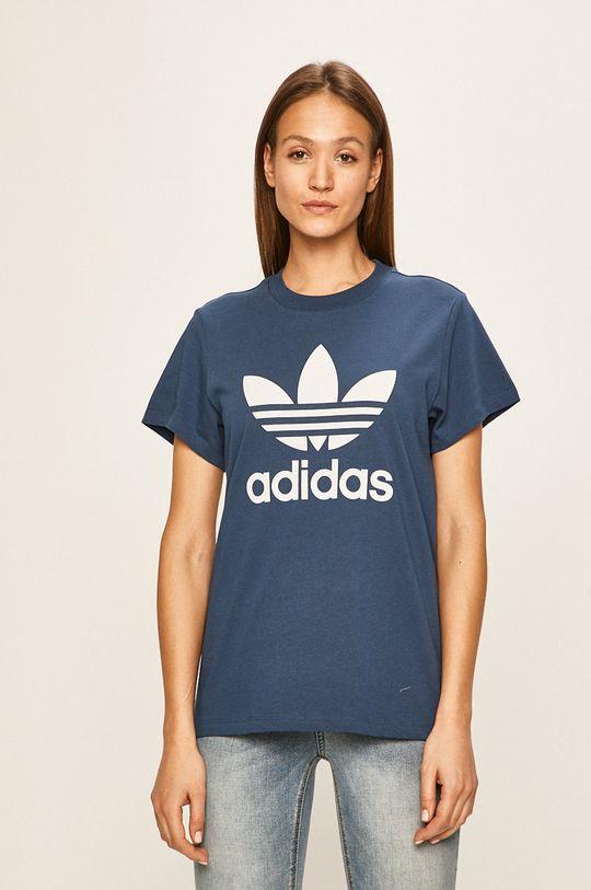 ocelová modrá adidas Originals - Tričko Dámský