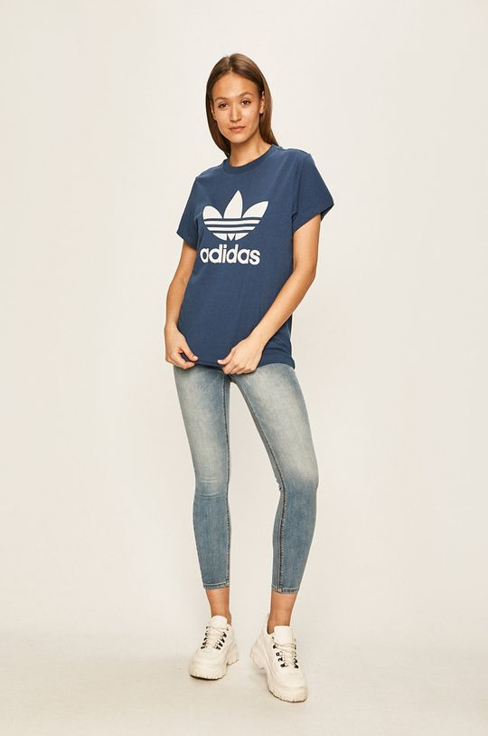 adidas Originals - Tričko ocelová modrá