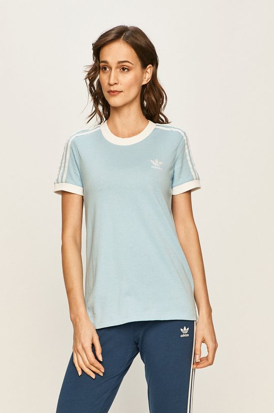 světle modrá adidas Originals - Tričko Dámský