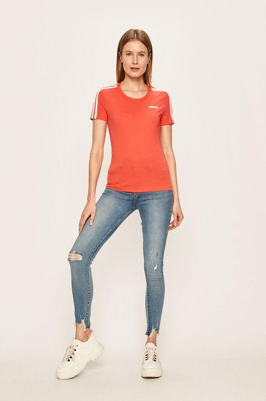 adidas - Tričko červená