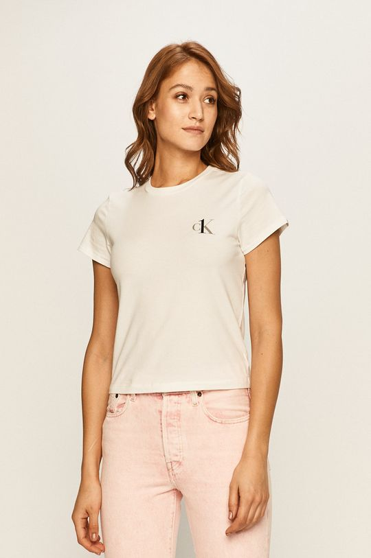 bílá Calvin Klein Underwear - Tričko CK One Dámský