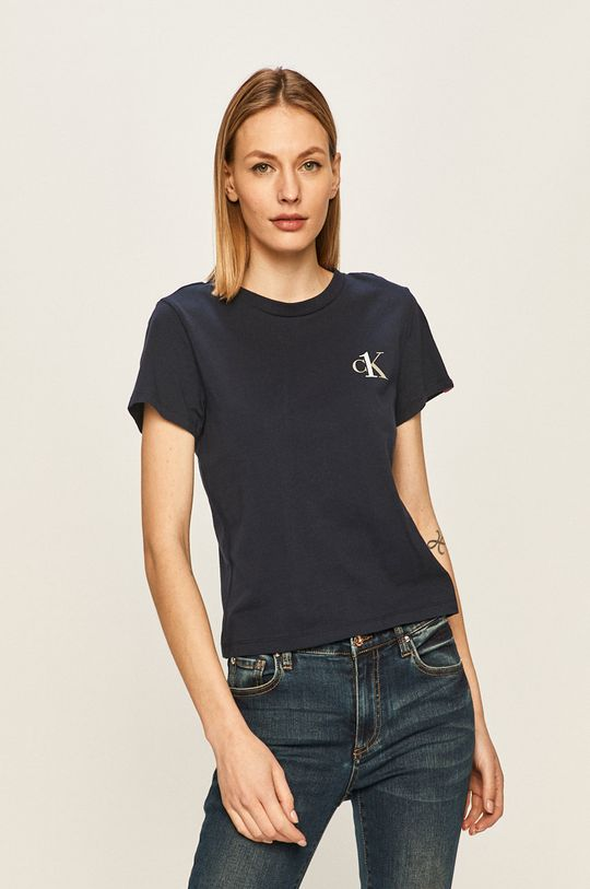 granatowy Calvin Klein Underwear - T-shirt CK One Damski