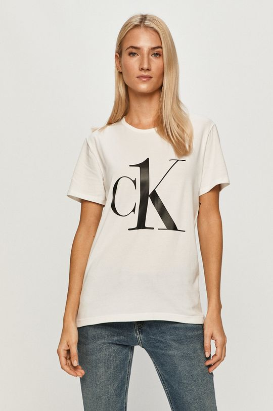 alb Calvin Klein Underwear - Tricou CK One De femei