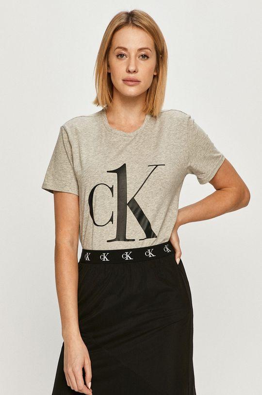 jasny szary Calvin Klein Underwear - T-shirt CK One Damski