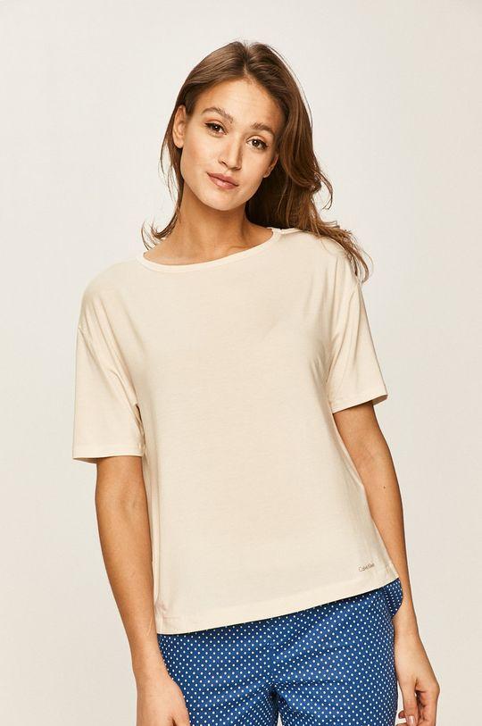 smetanová Calvin Klein Underwear - Pyžamové tričko Dámský