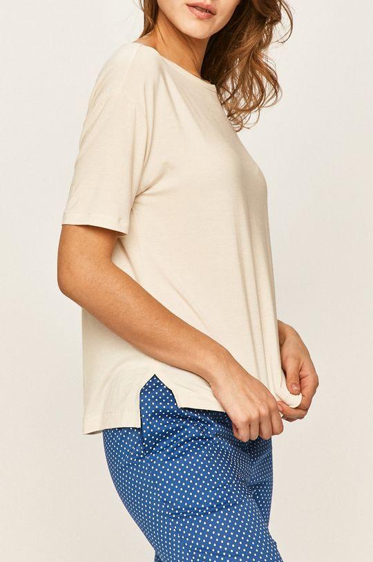smetanová Calvin Klein Underwear - Pyžamové tričko