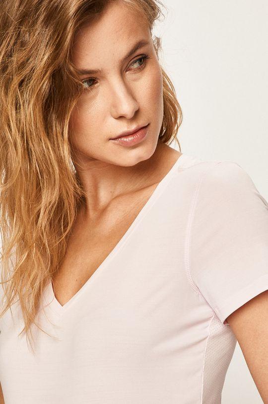 różowy Reebok - T-shirt