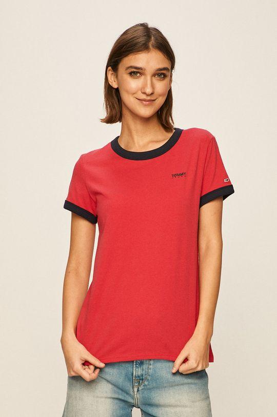 ostry różowy Tommy Jeans - T-shirt Damski