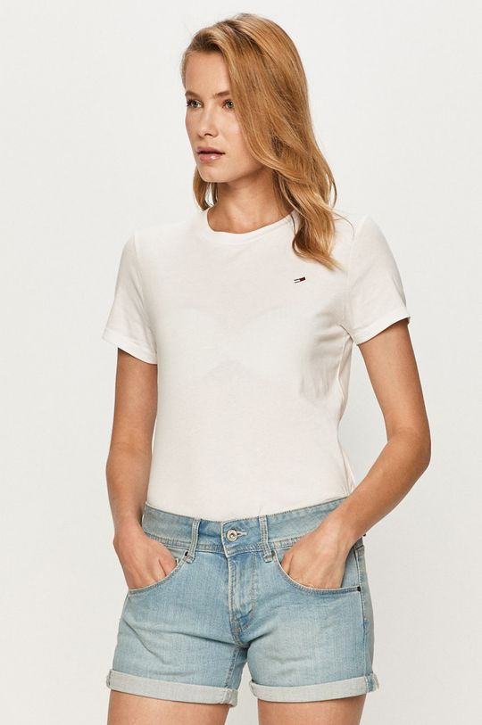 biały Tommy Jeans - T-shirt Damski