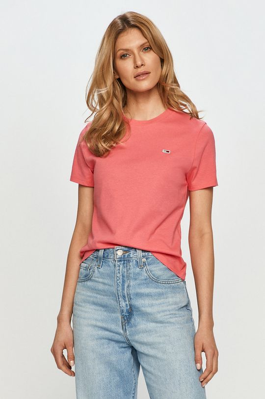 roz Tommy Jeans - Tricou De femei