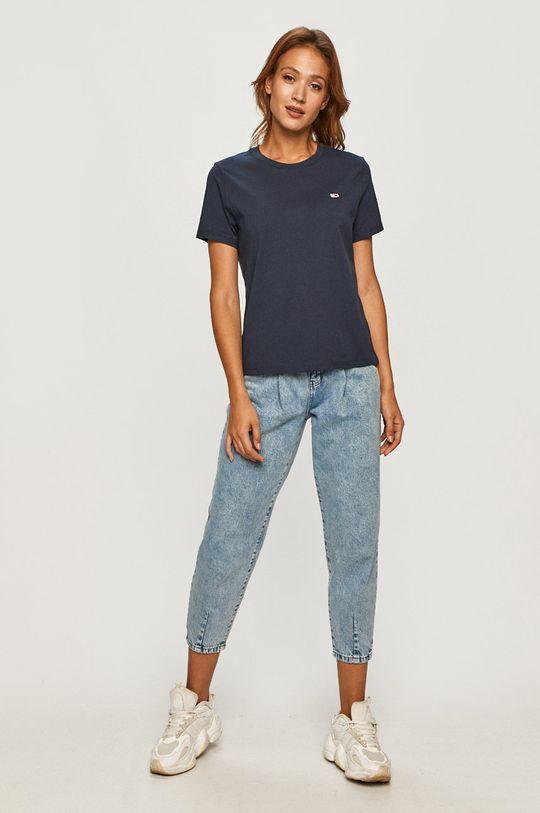 granatowy Tommy Jeans - T-shirt Damski