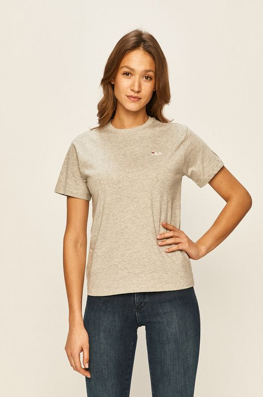 jasny szary Fila - T-shirt Damski