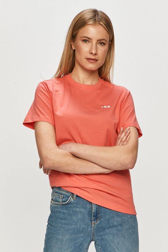 ostry różowy Fila - T-shirt Damski