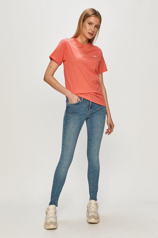 Fila - T-shirt ostry różowy