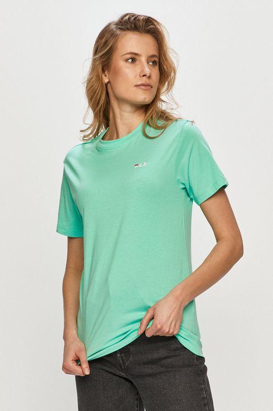 jasny turkusowy Fila - T-shirt Damski
