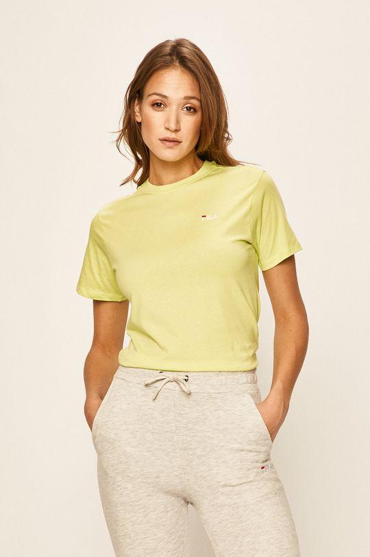żółto - zielony Fila - T-shirt Damski