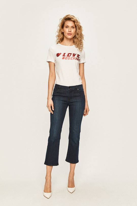 Love Moschino - T-shirt biały