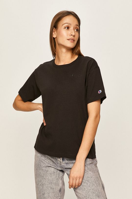 czarny Champion - T-shirt Damski