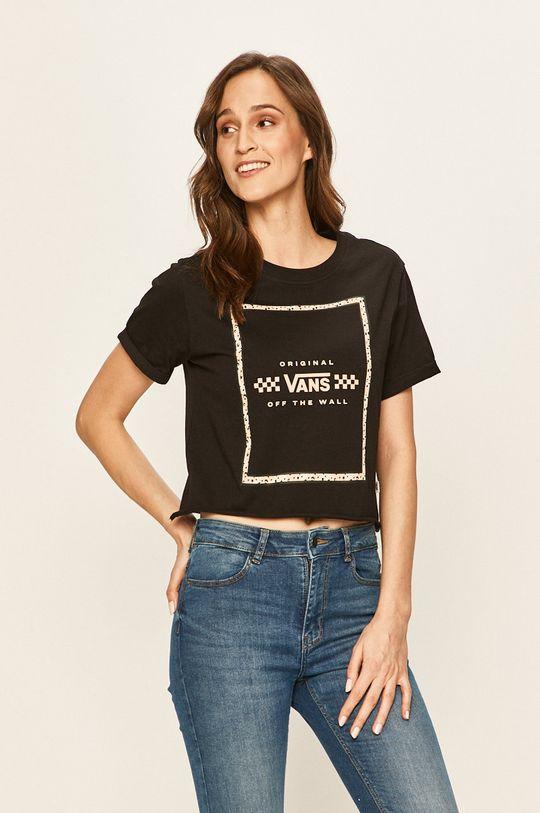 czarny Vans - T-shirt Damski
