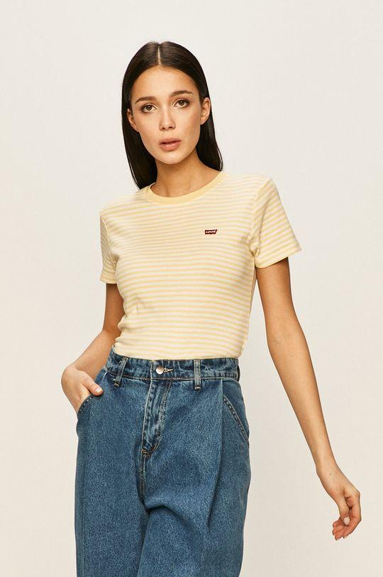 жълт Levi's - Тениска Жіночий