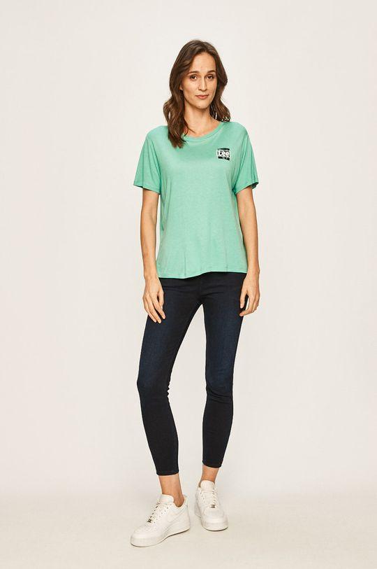 Lee - T-shirt turkusowy