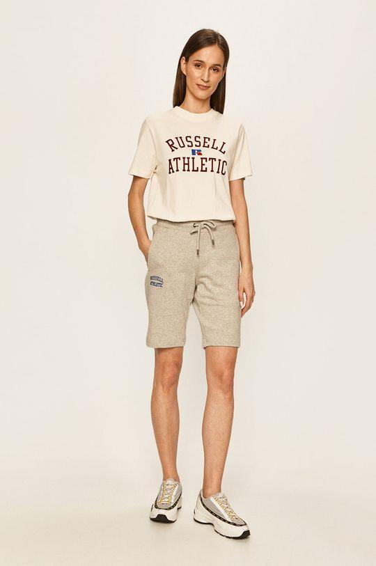 Russell Athletic - Tričko smetanová