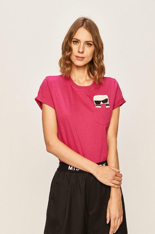 roz ascutit Karl Lagerfeld - Tricou De femei