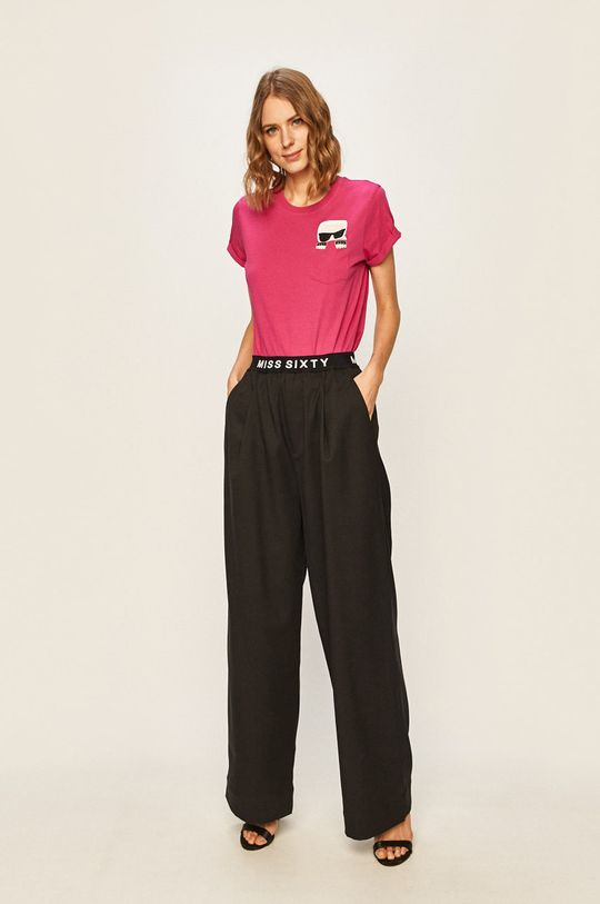 Karl Lagerfeld - Tricou roz ascutit