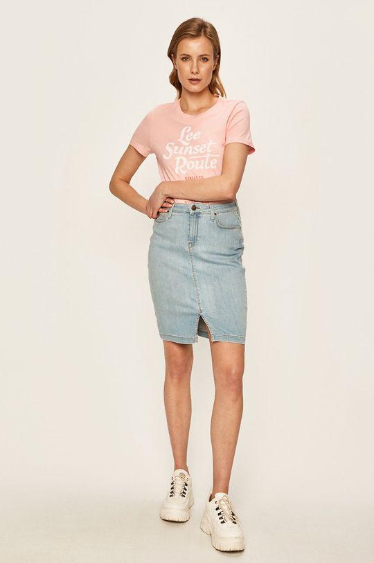 Lee - Tričko sýto ružová