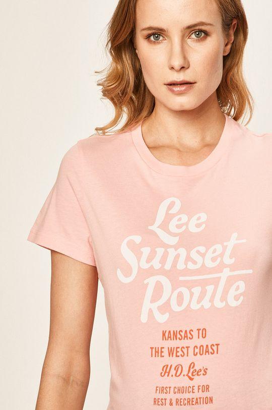 sýto ružová Lee - Tričko