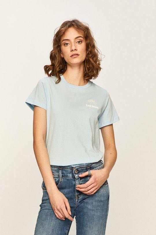 jasny niebieski Lee - T-shirt Damski