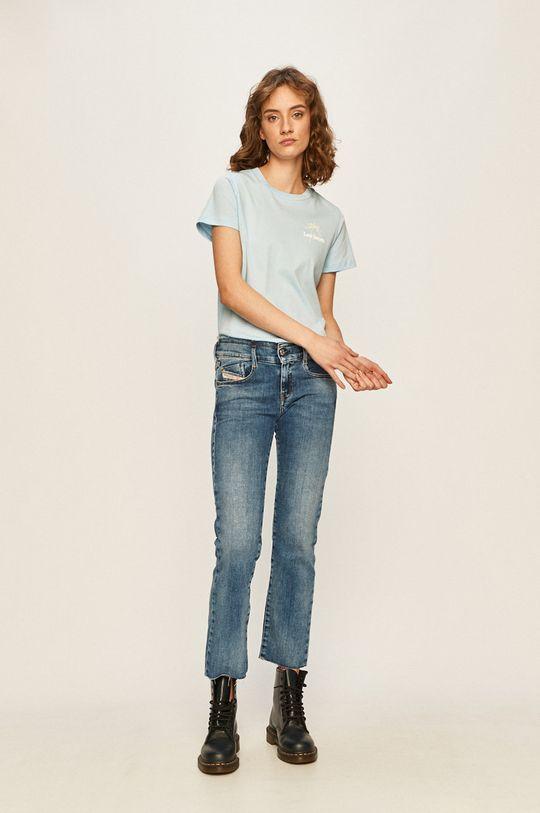 jasny niebieski Lee - T-shirt