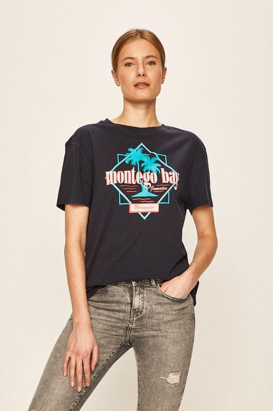 námořnická modř Wrangler - Tričko Dámský