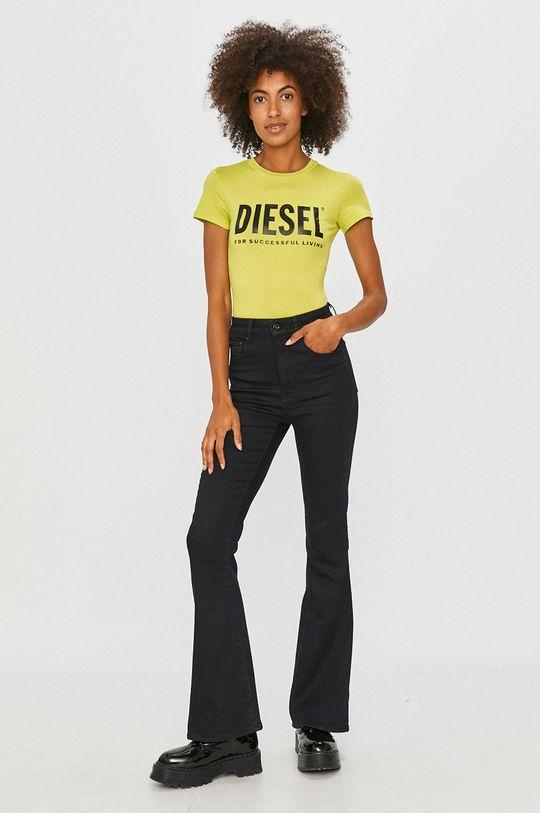 Diesel - Tricou galben – verde