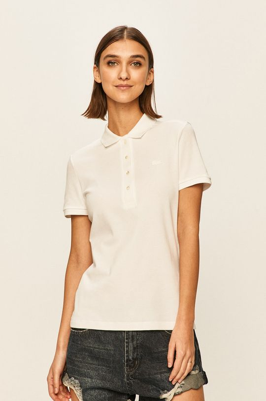 biały Lacoste - T-shirt Damski