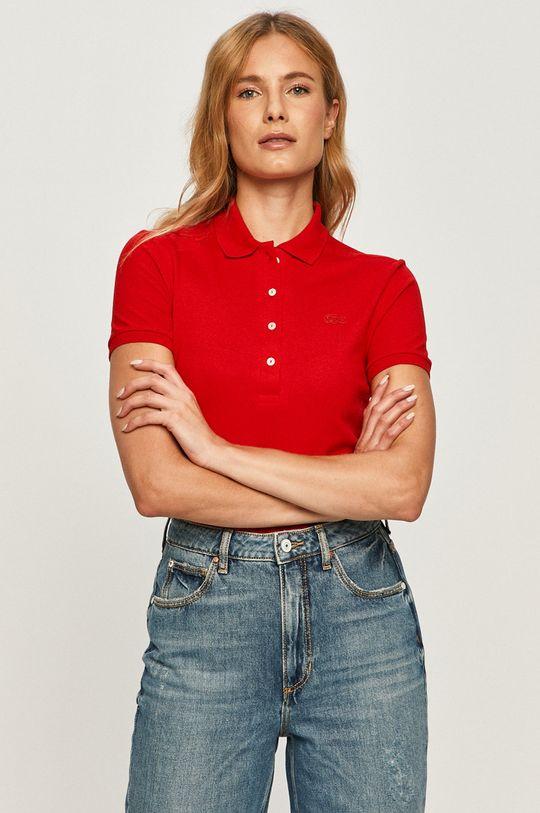 rosu Lacoste - Tricou Polo