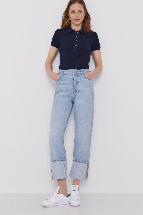 Lacoste - Polo tričko námořnická modř