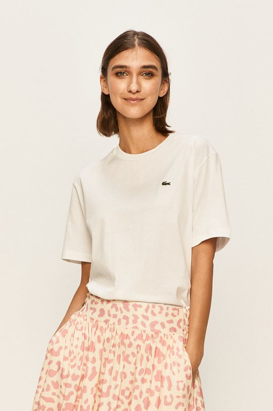 bílá Lacoste - Tričko