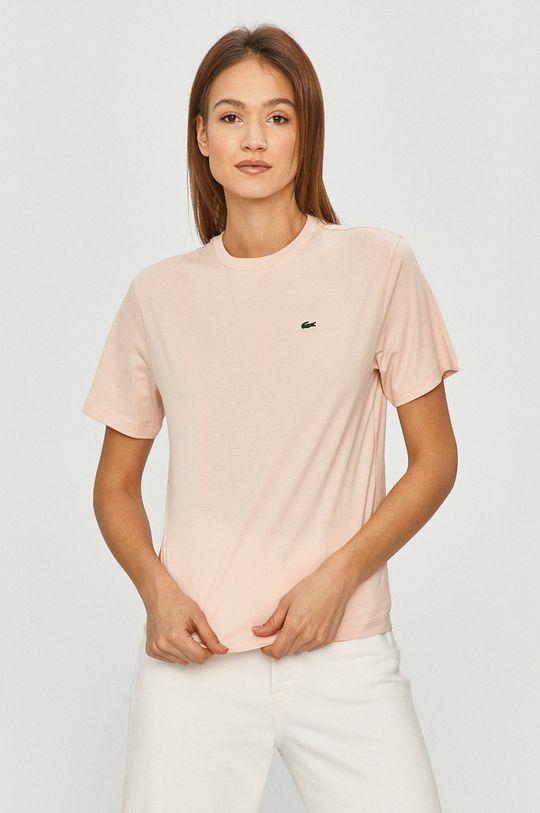 różowy Lacoste - T-shirt Damski