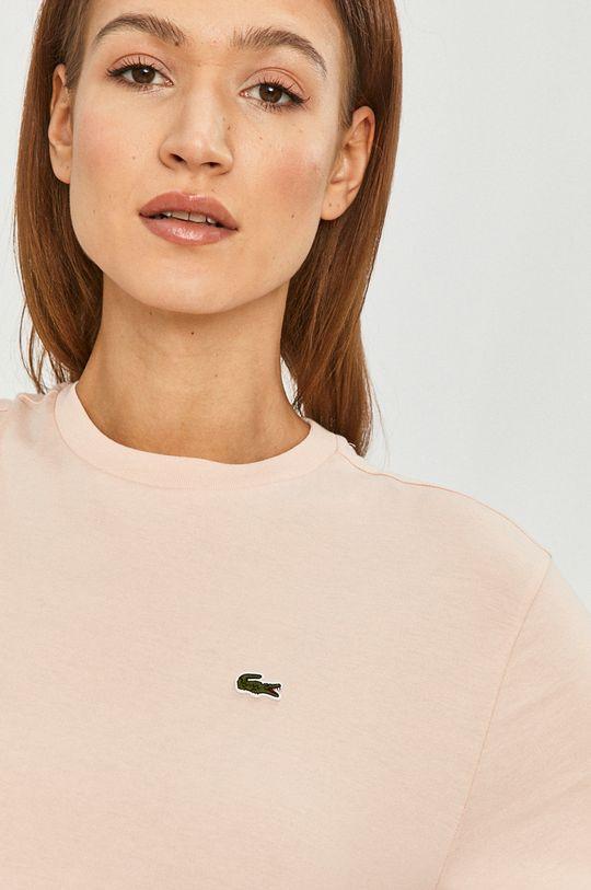 różowy Lacoste - T-shirt