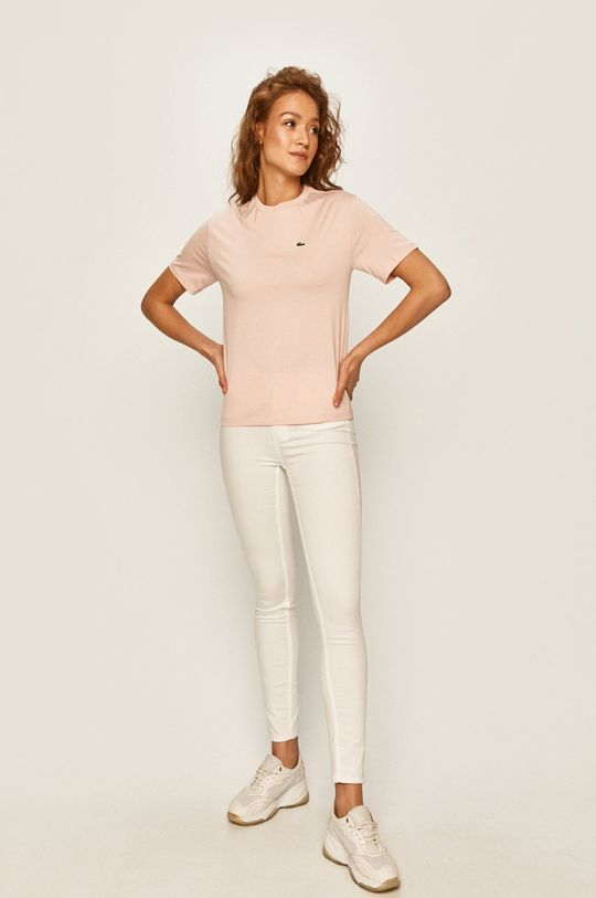 Lacoste - T-shirt różowy