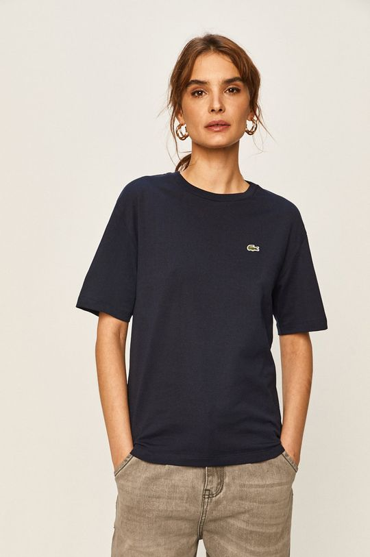 granatowy Lacoste - T-shirt Damski