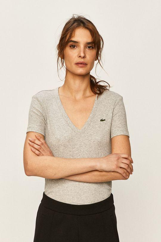 szary Lacoste - T-shirt Damski