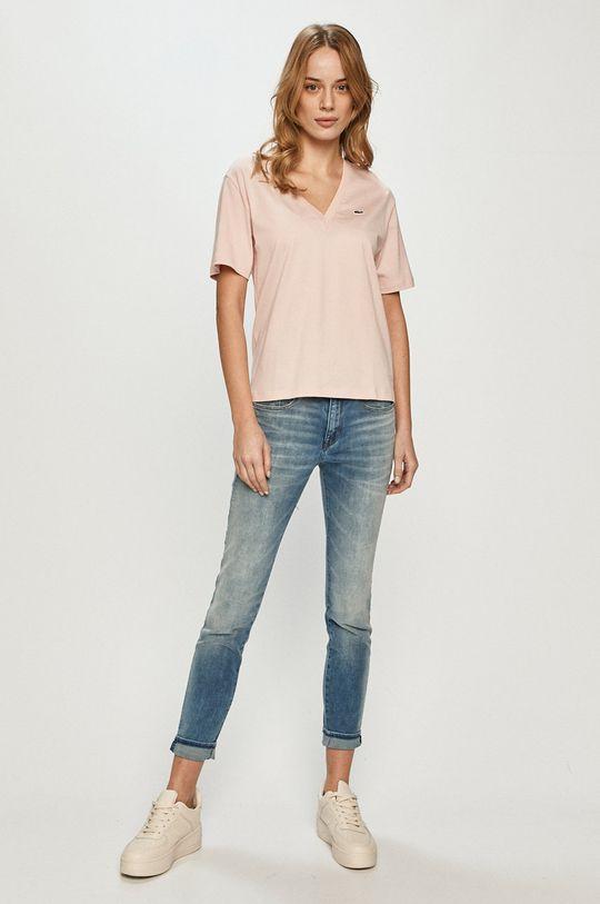 Lacoste - Tričko ružová