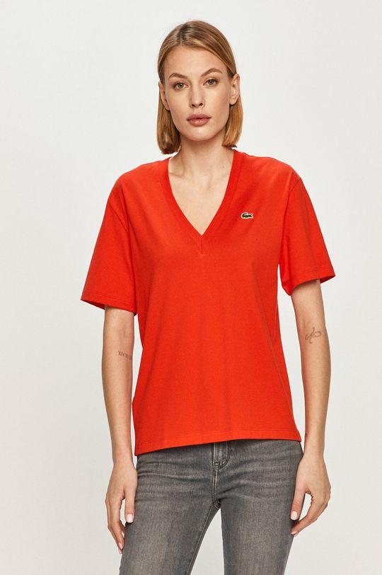červená Lacoste - Tričko Dámsky